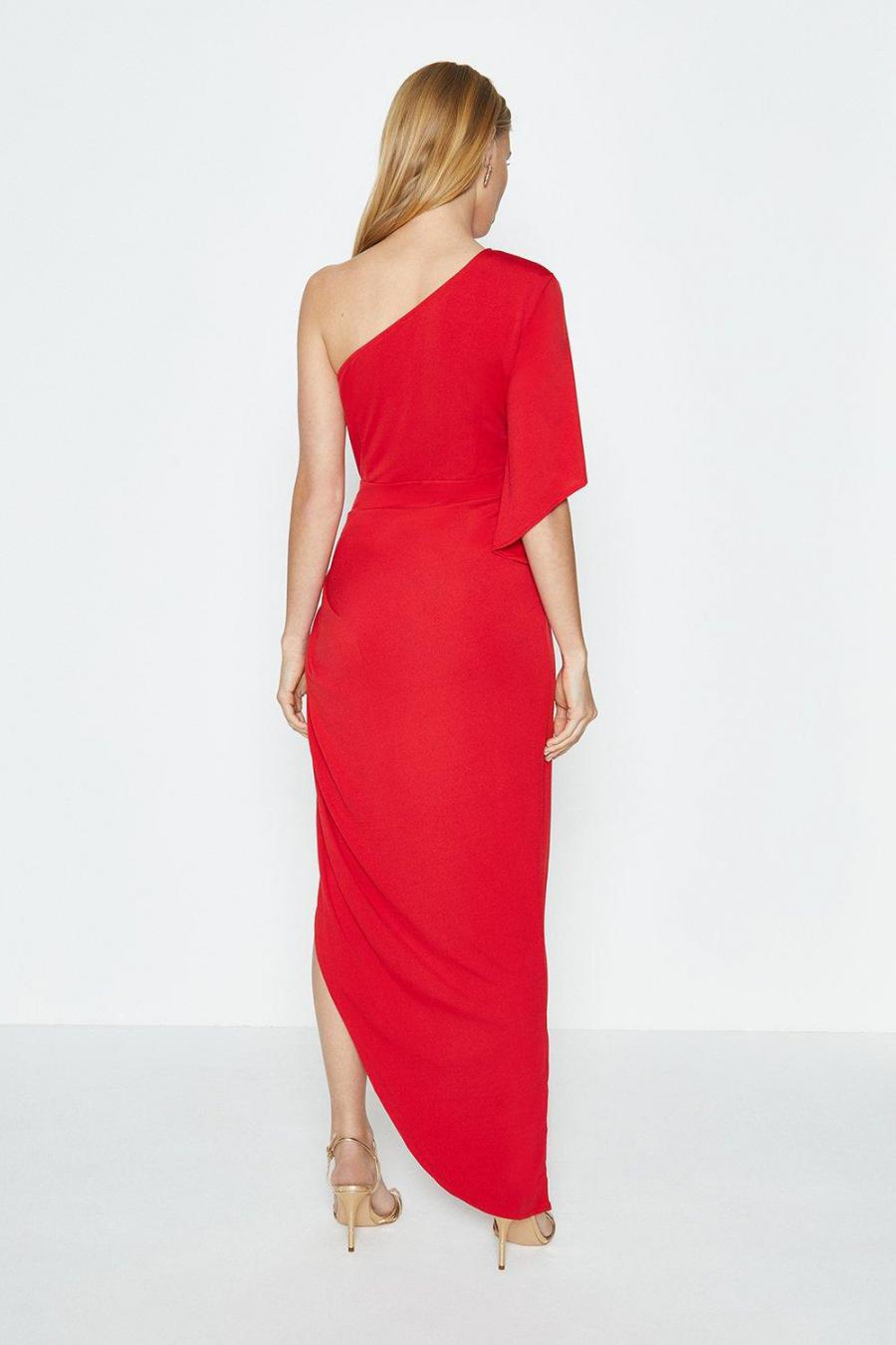 Coast A Line Dresses | Womens One Shoulder Jersey Maxi Dress Red