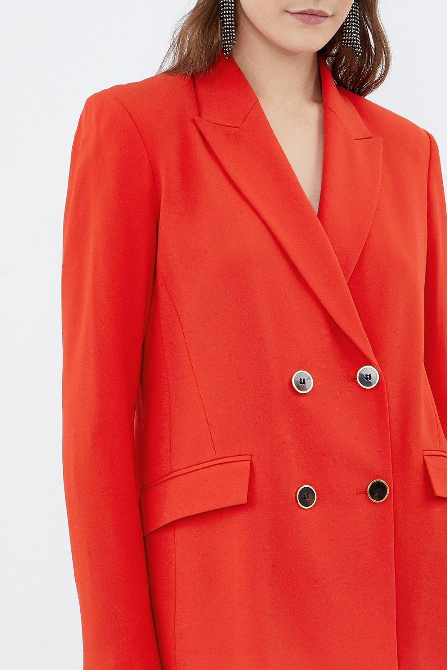 Coast Blazers | Womens Soft Tailored Double Breasted Jacket Red