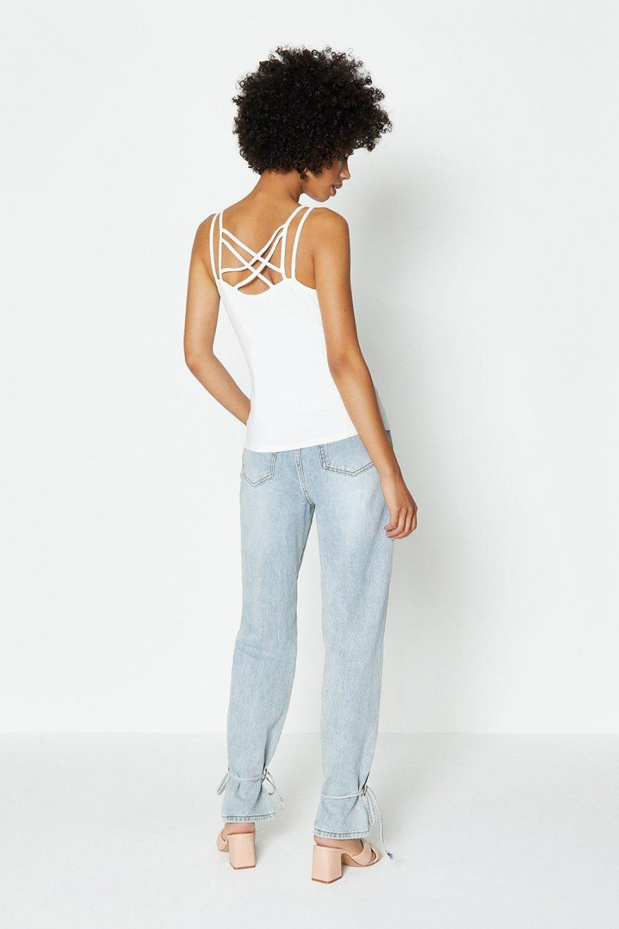 Coast Camisoles | Womens Two Strap Back Cami Ivory