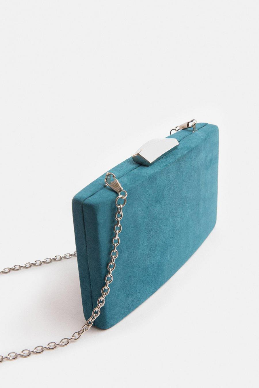Coast Clutch Bag | Womens Boxy Clutch Bag Teal