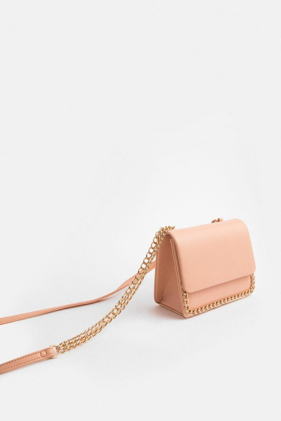 Coast Clutch Bag | Womens Chain Strap Bag Blush