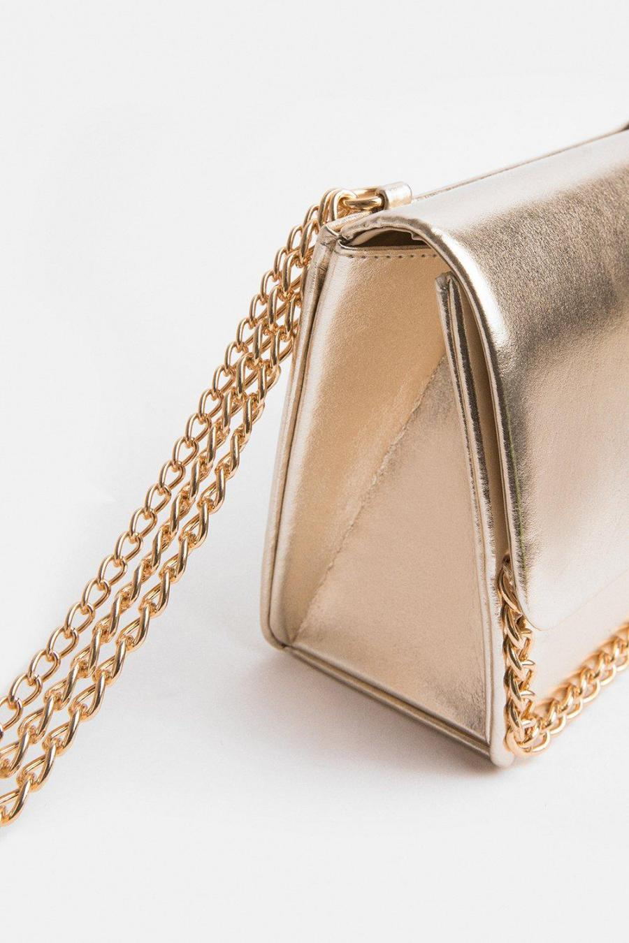 Coast Clutch Bag | Womens Chain Strap Bag Gold