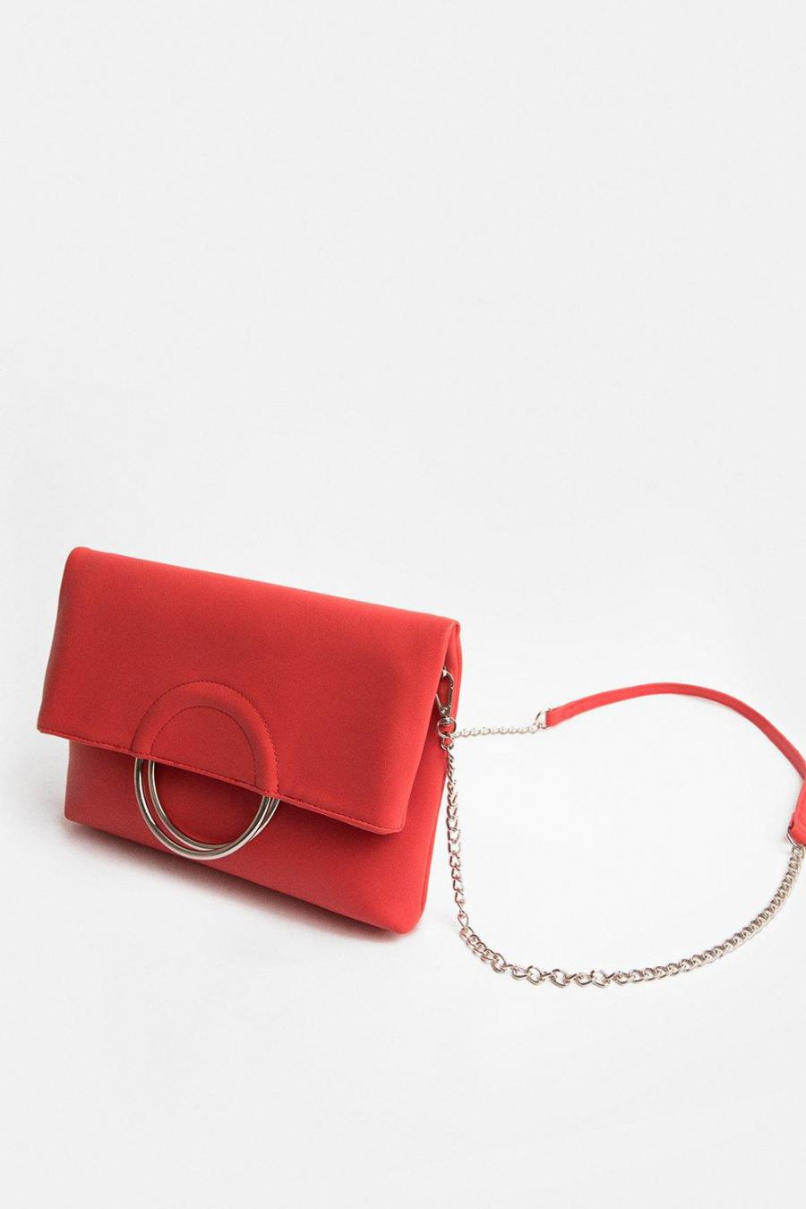 Coast Clutch Bag | Womens Ring Detail Clutch Bag Coral
