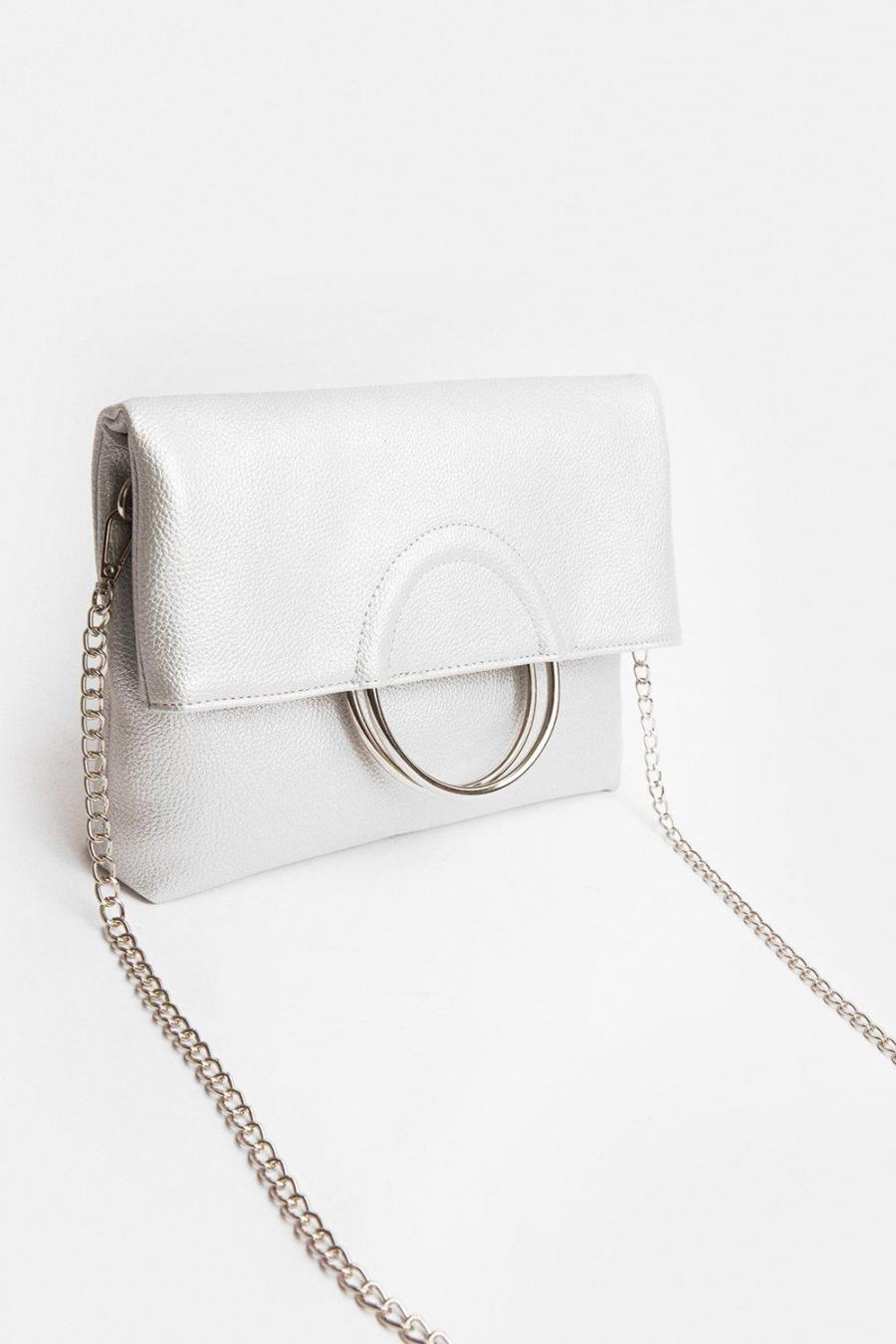 Coast Clutch Bag | Womens Ring Detail Clutch Bag Silver