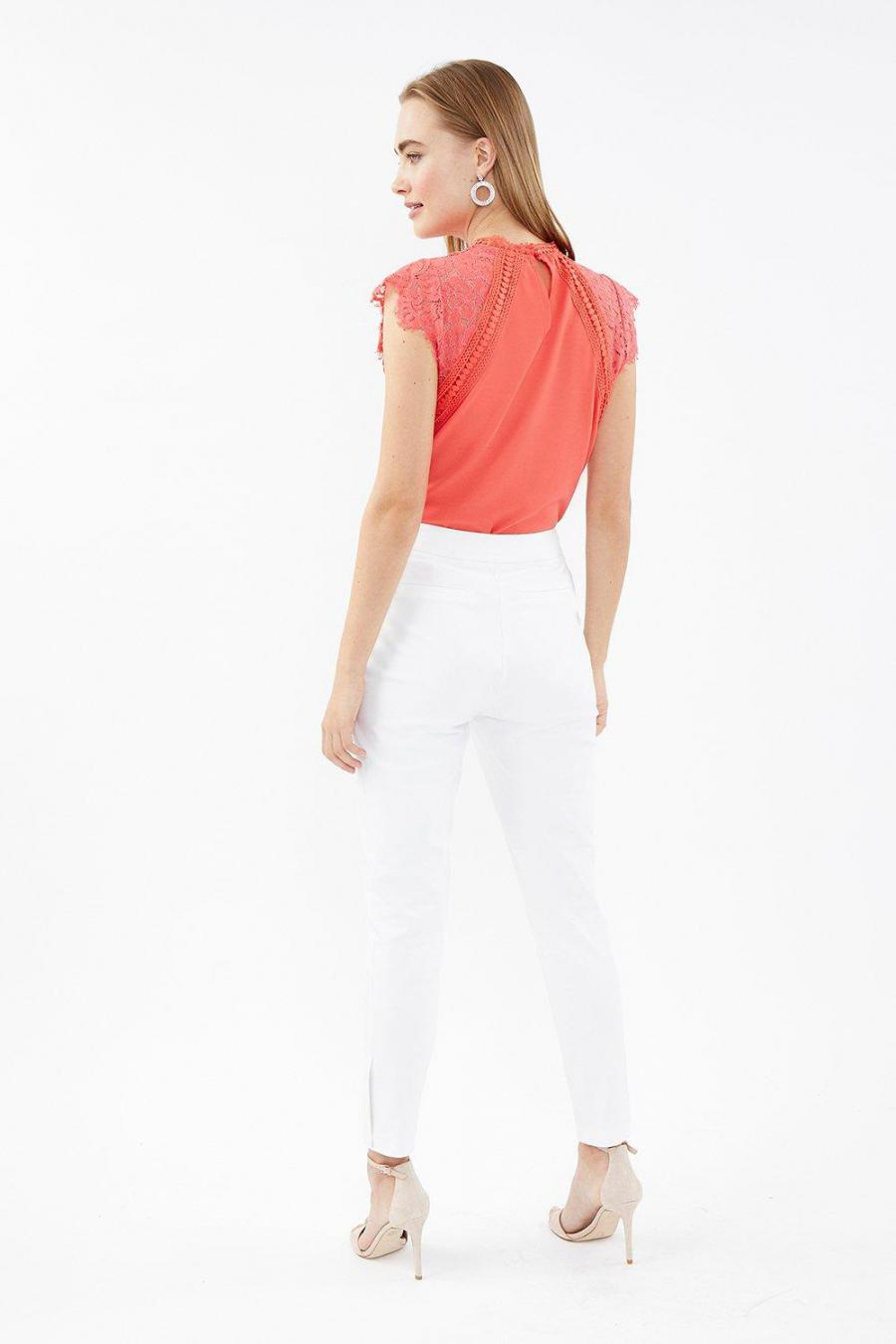 Coast Cropped Trousers | Womens Essential Cotton Sateen Cropped Trousers Ivory