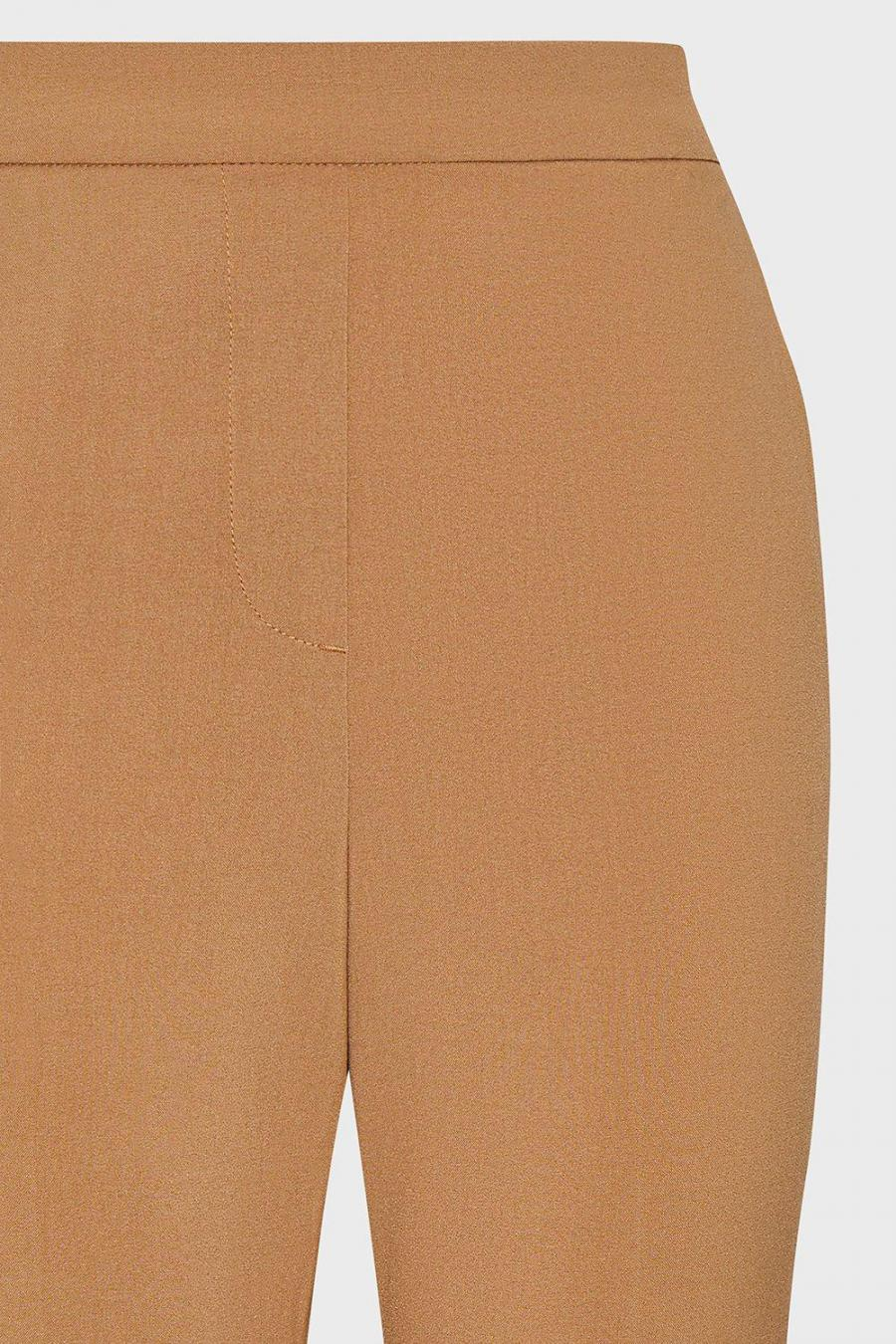 Coast Cropped Trousers | Womens Flat Front Crepe Trouser Stone
