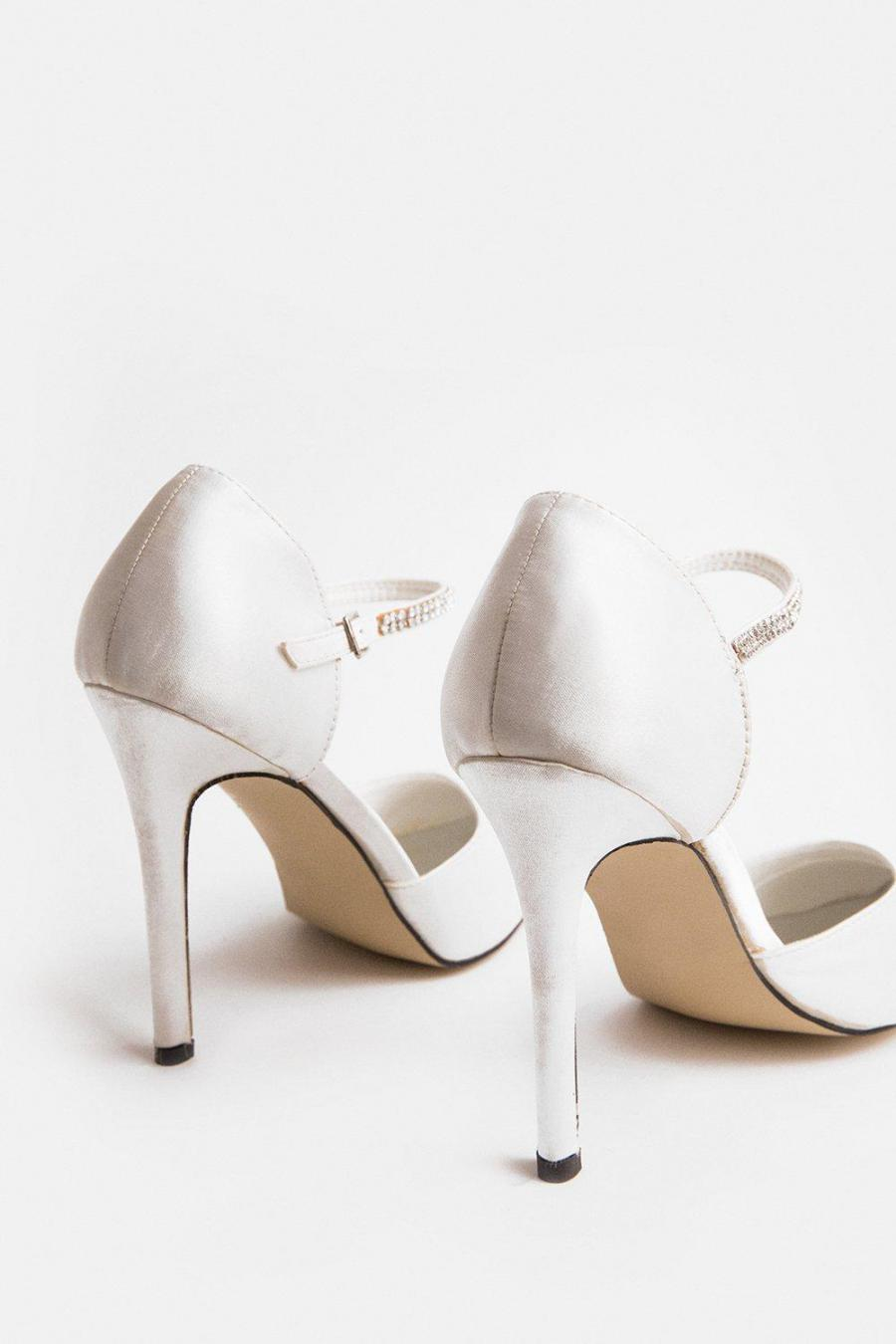 Coast Heeled Sandals | Womens Diamante Strap Court Shoe Ivory