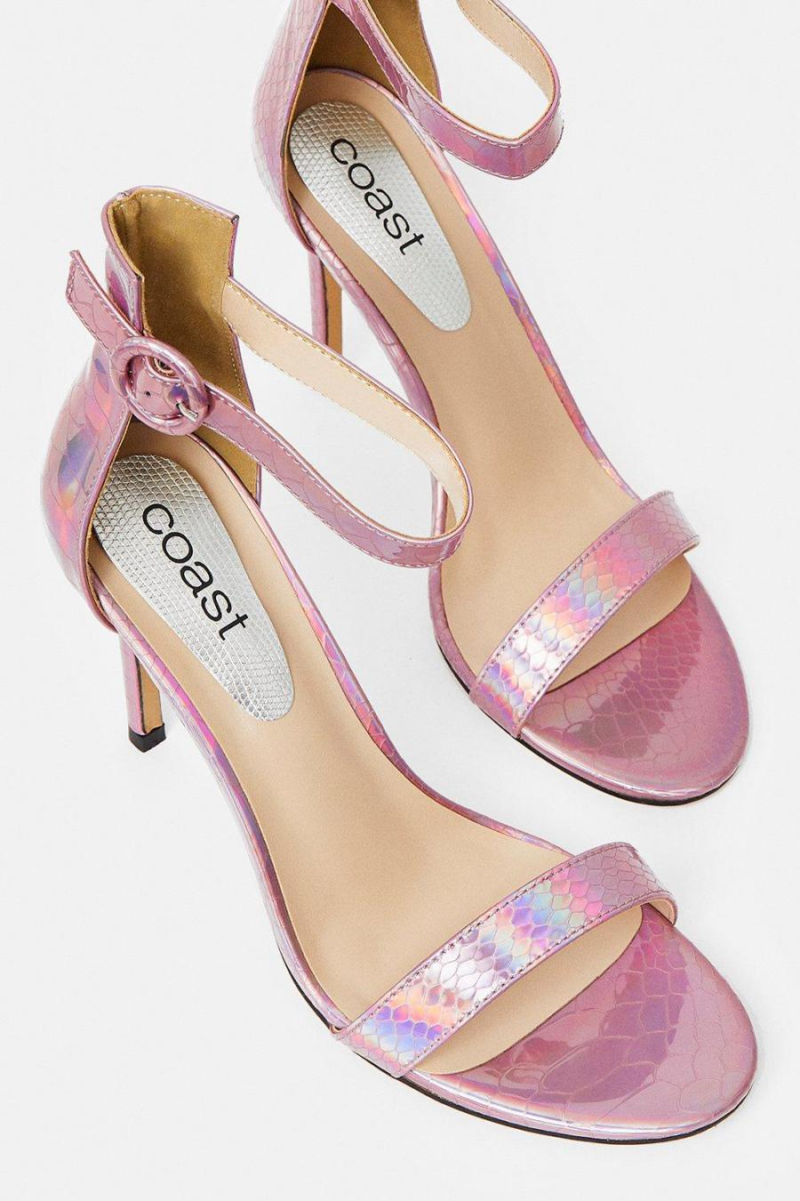 Coast Heeled Sandals | Womens Mini Buckle Ankle Strap Heels Pink