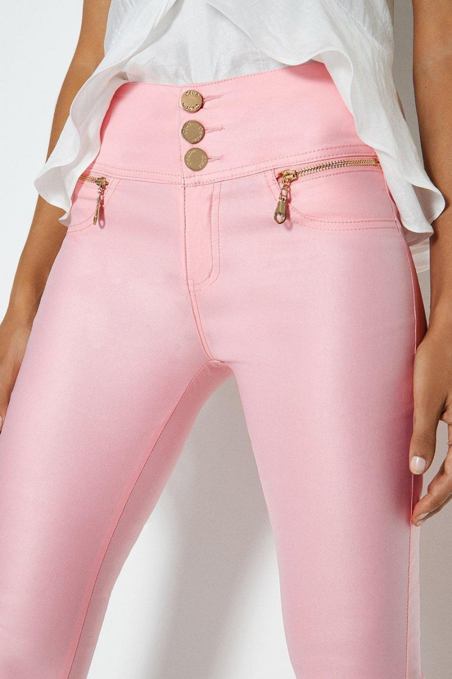 Coast Jeans | Womens Coated Jeans Pink
