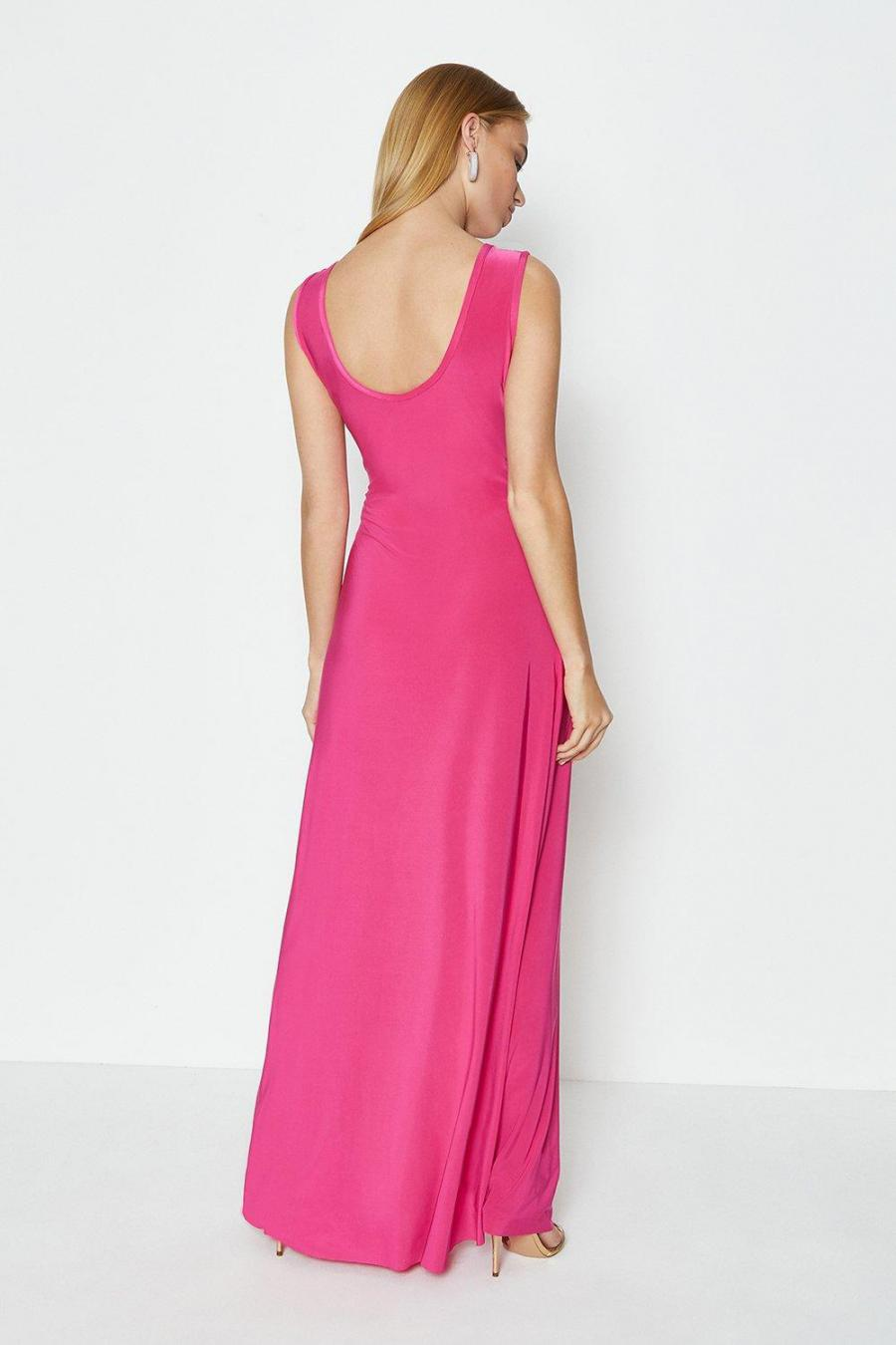 Coast Maxi Dresses | Womens Cross Over Sleeveless Maxi Dress Cerise