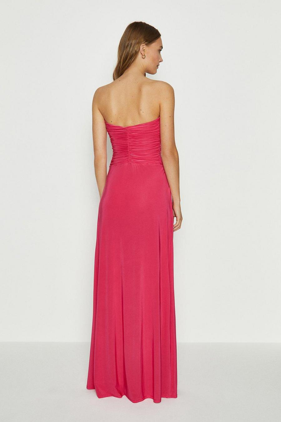Coast Maxi Dresses | Womens Plain Bandeau Jersey Maxi Dress Pink