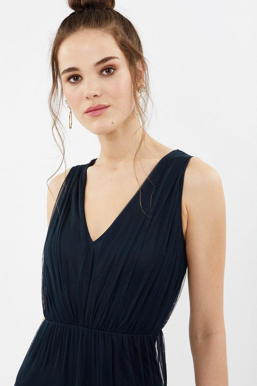 Coast Maxi Dresses | Womens Tulle Tiered Maxi Dress Navy
