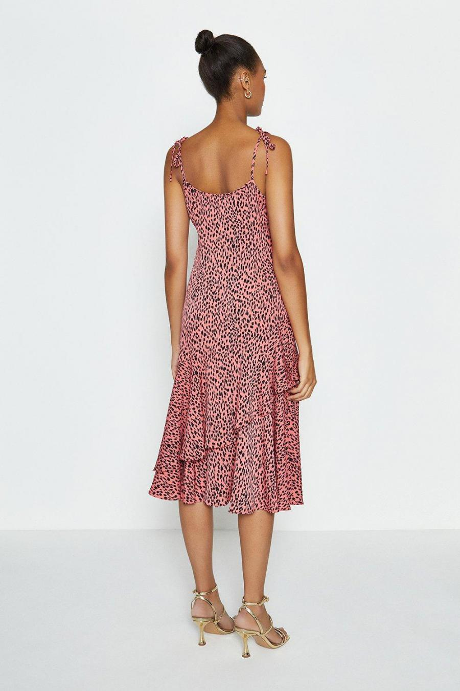 Coast Midi Dresses | Womens Tie Shoulder Midi Dress Pink