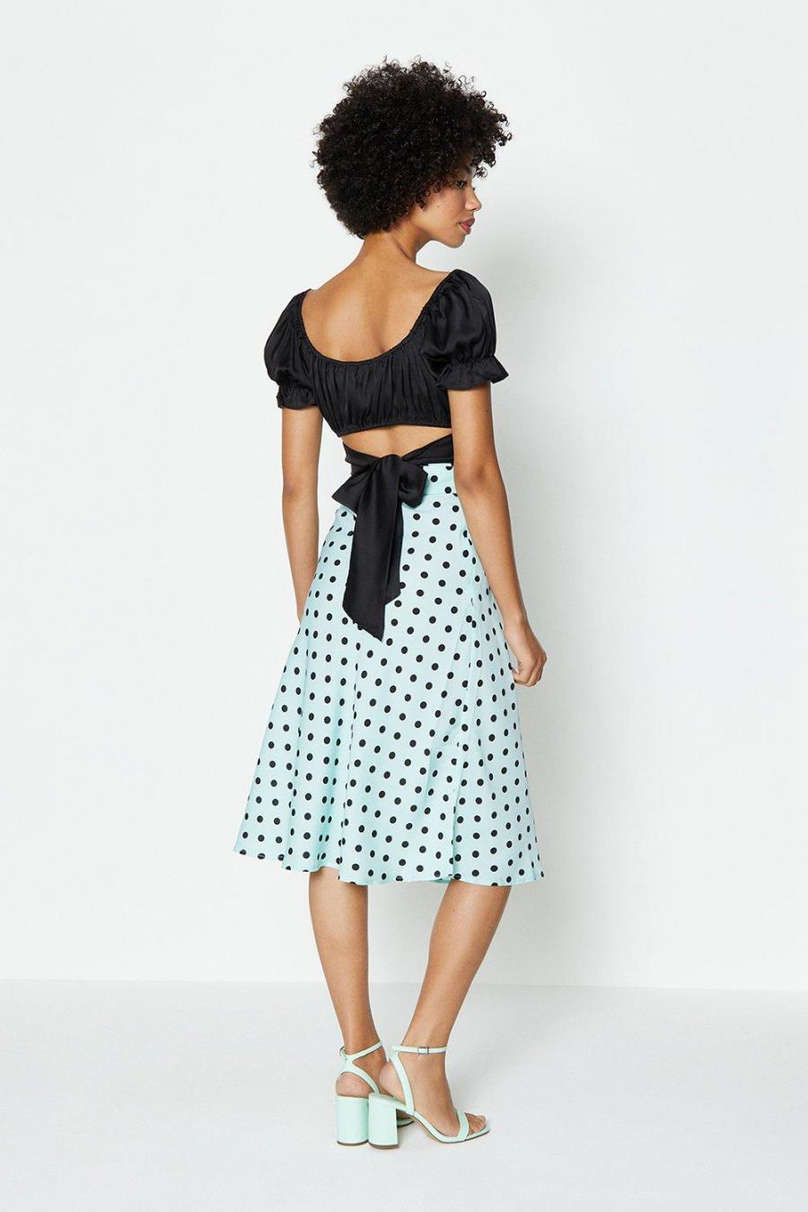 Coast Midi Skirts | Womens Belt Detail Spot Midi Skirt Mint
