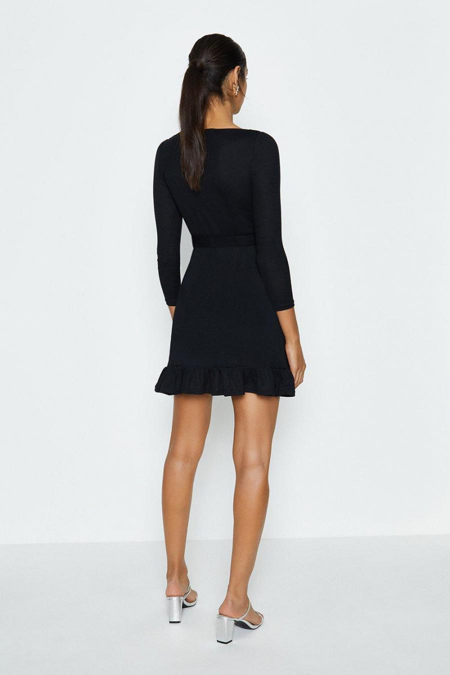 Coast Mini Dresses | Womens Jersey Flippy Hem Dress Black