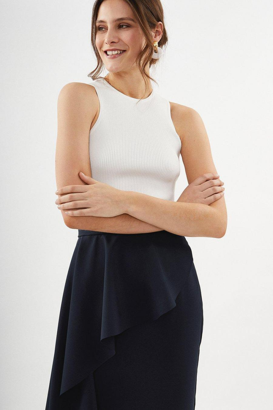 Coast Pencil Skirts | Womens Drape Detail Pencil Skirt Navy