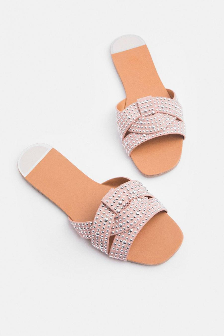 Coast Sandals | Womens Diamante Stud Sandal Pink