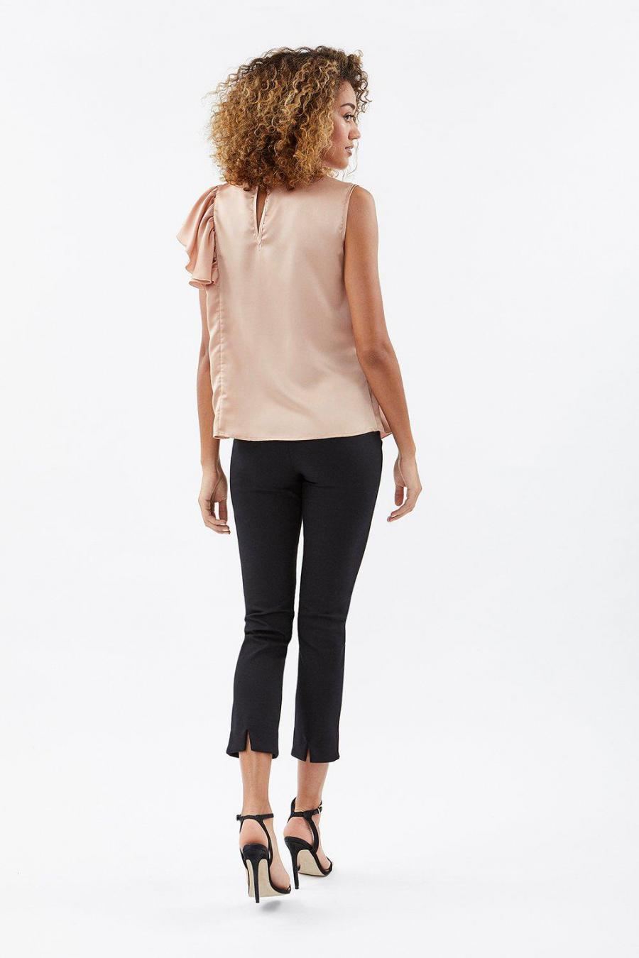 Coast Shell Tops | Womens Ruffle Detail Satin Top Blush