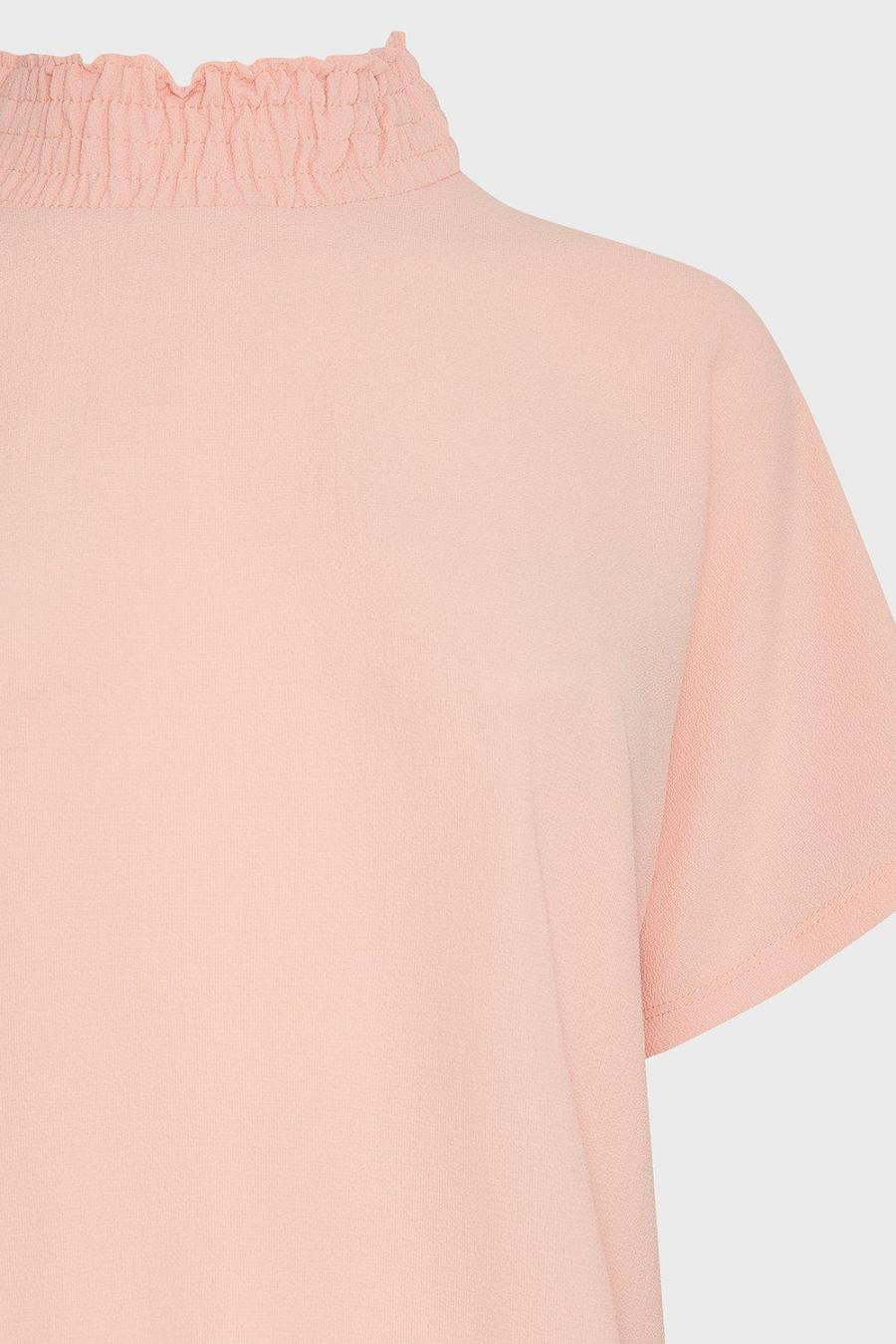 Coast Shell Tops | Womens Shirred Neck Top Coral
