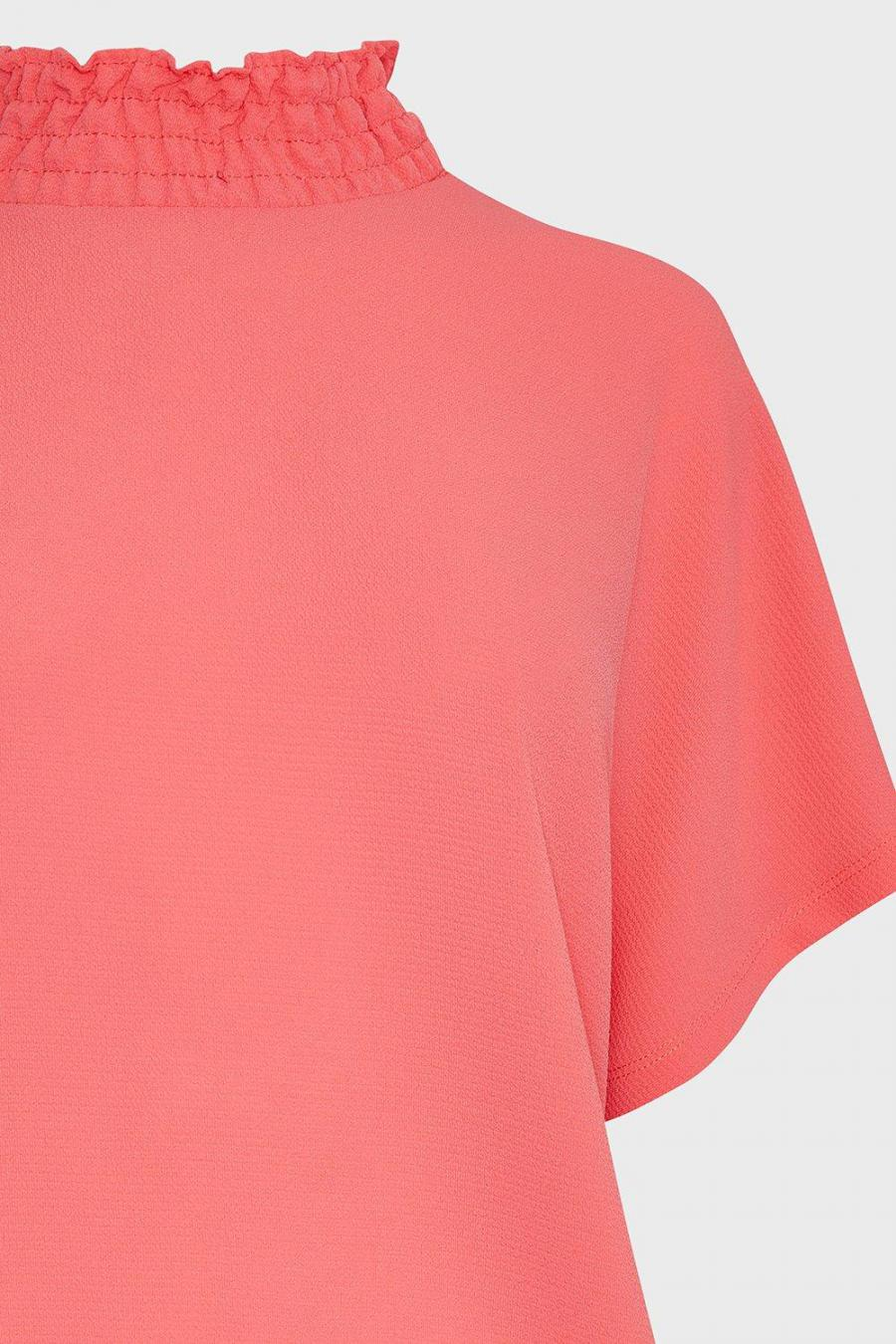 Coast Shell Tops | Womens Shirred Neck Top Pink