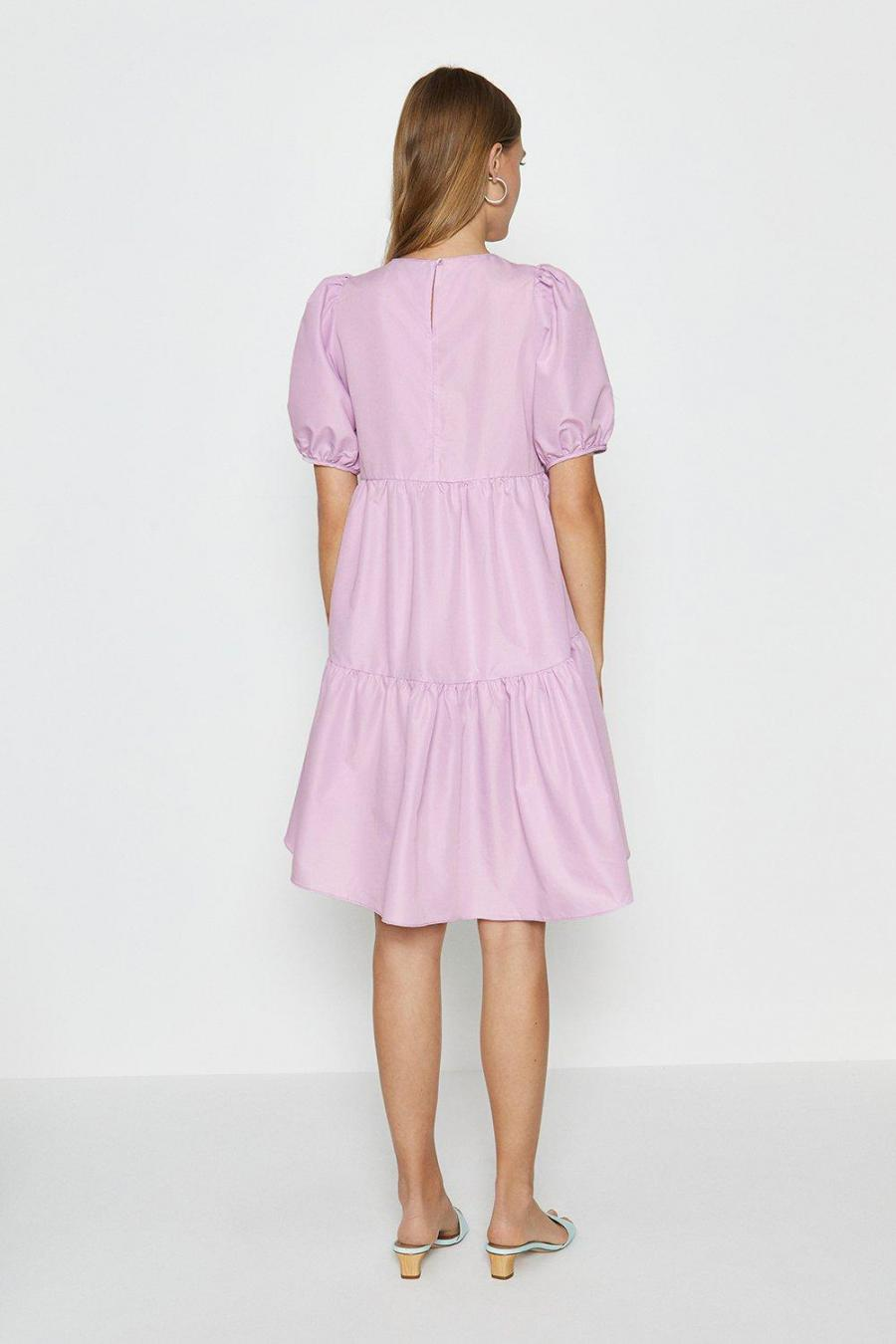 Coast Smock Dresses | Womens Puff Shoulder Smock Dress Lilac