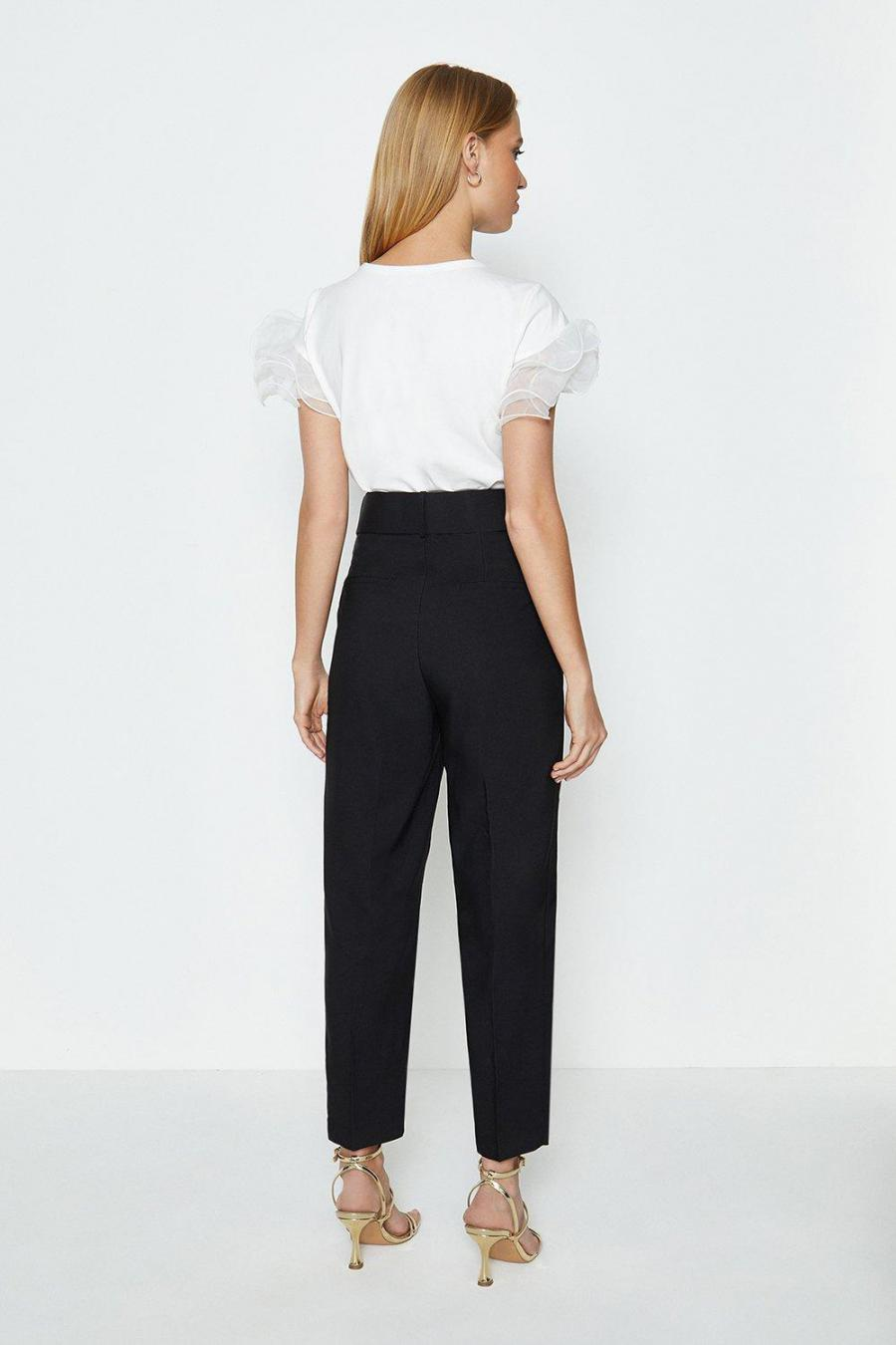 Coast Straight Trousers   Womens Belted Trousers Black