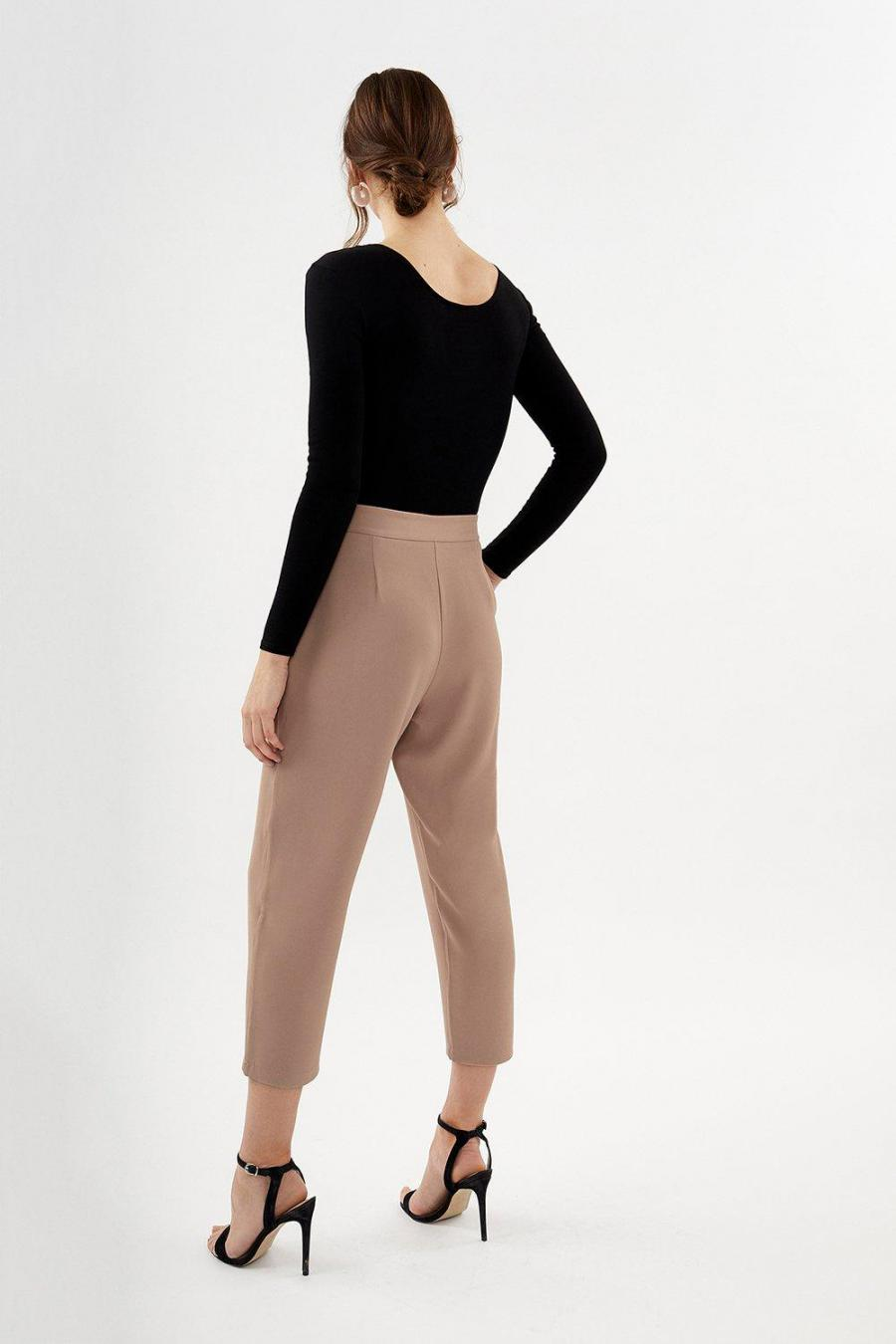 Coast Straight Trousers | Womens Gold Bar Belted Trouser Blush