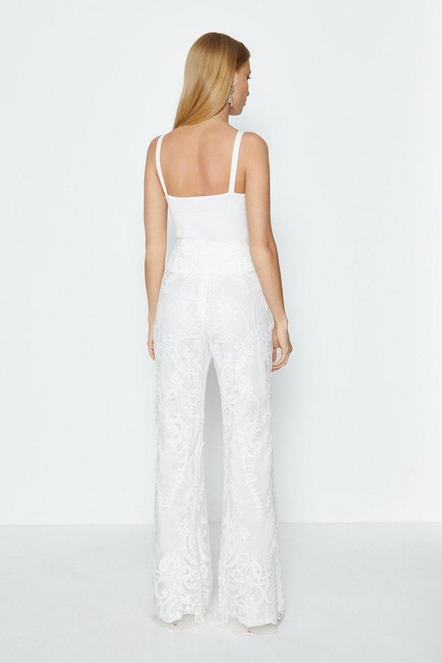 Coast Straight Trousers | Womens Lace Trouser Ivory