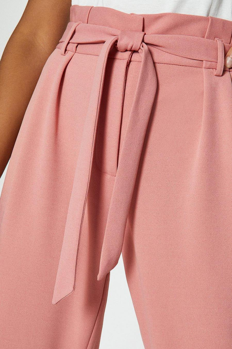 Coast Straight Trousers | Womens Paper Bag Tailored Trousers Dusky Pink