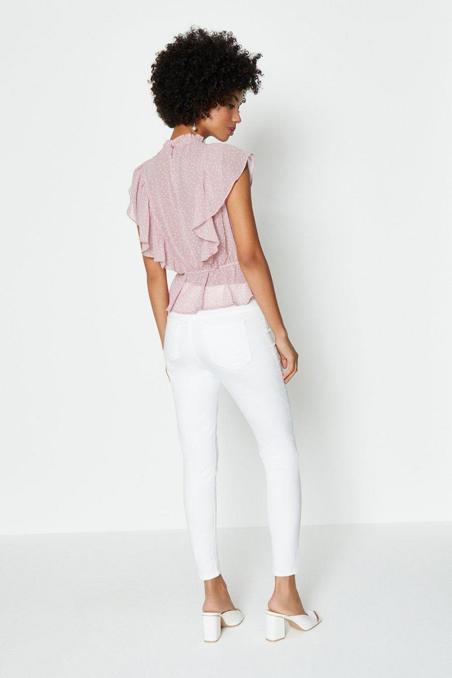 Coast Structured Tops | Womens Ruffle Detail Peplum Top Lilac