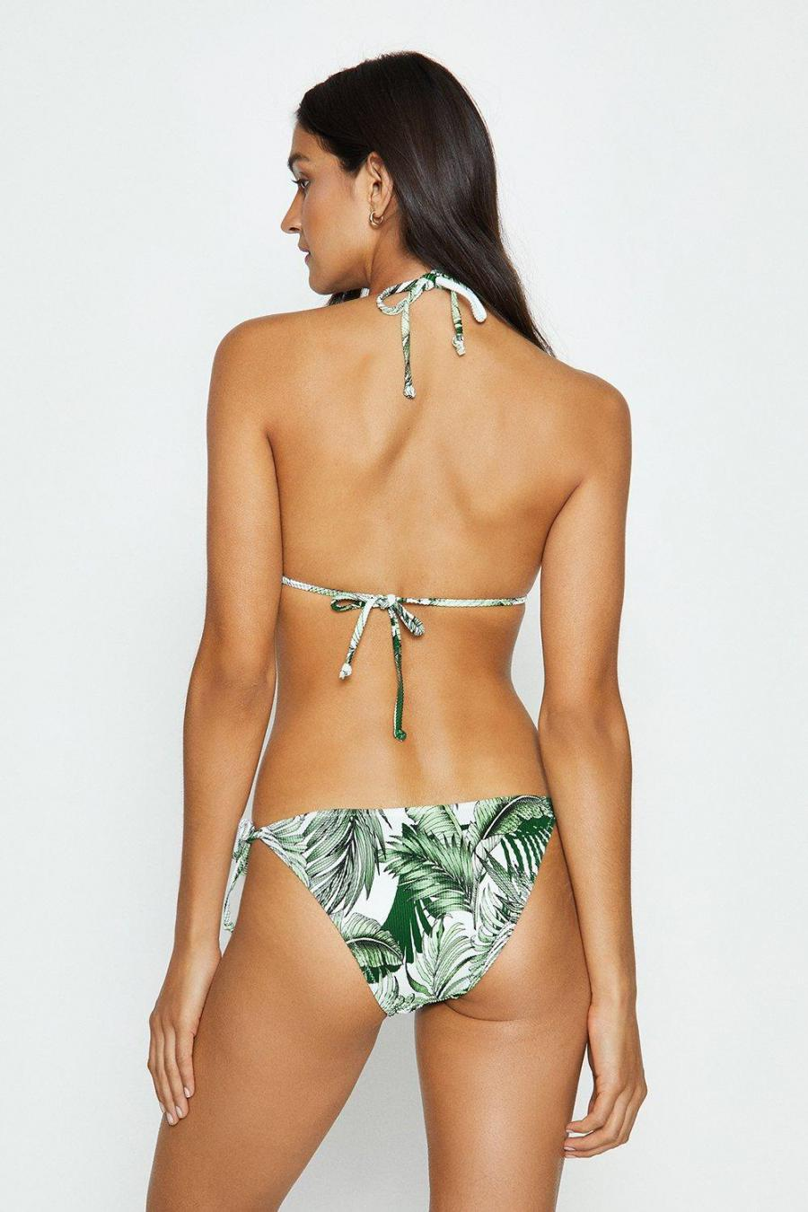 Coast Swimsuits   Womens Tropical Print Cut Out Swimsuit Ivory