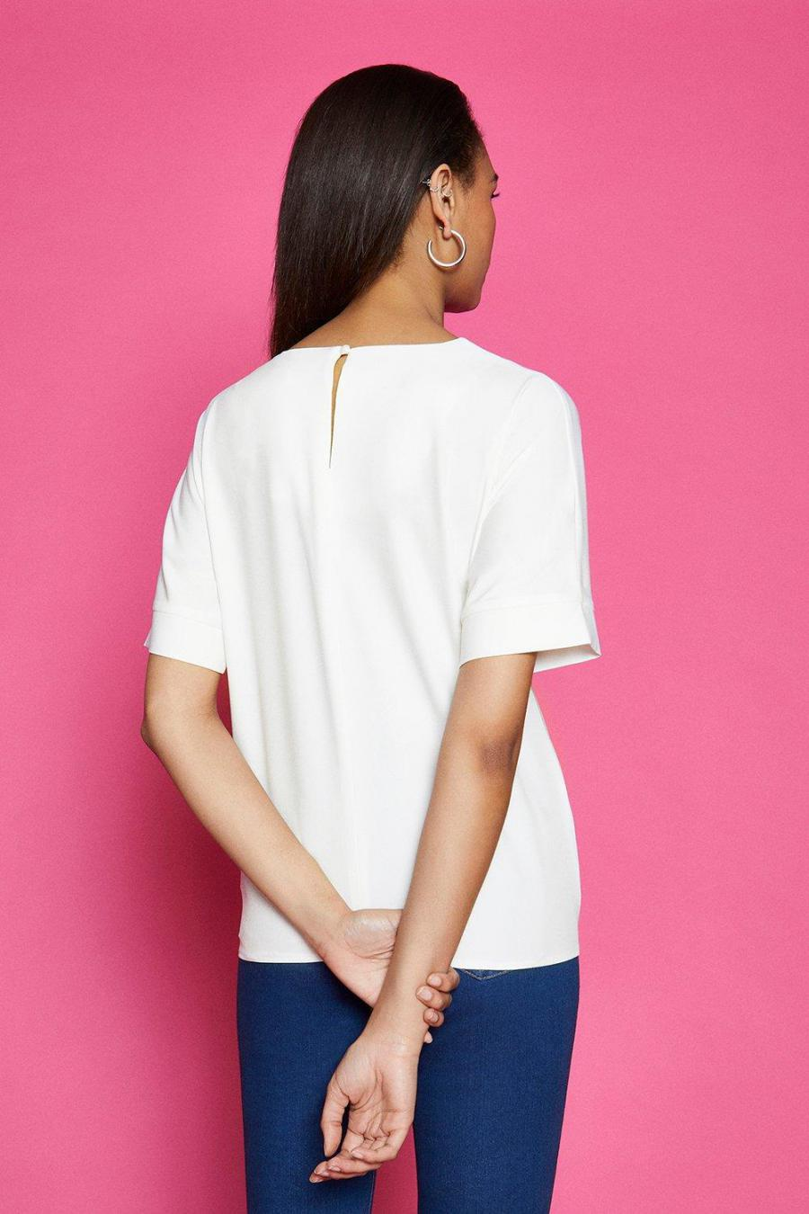Coast T-Shirts | Womens Short Sleeve Tie Front Top White
