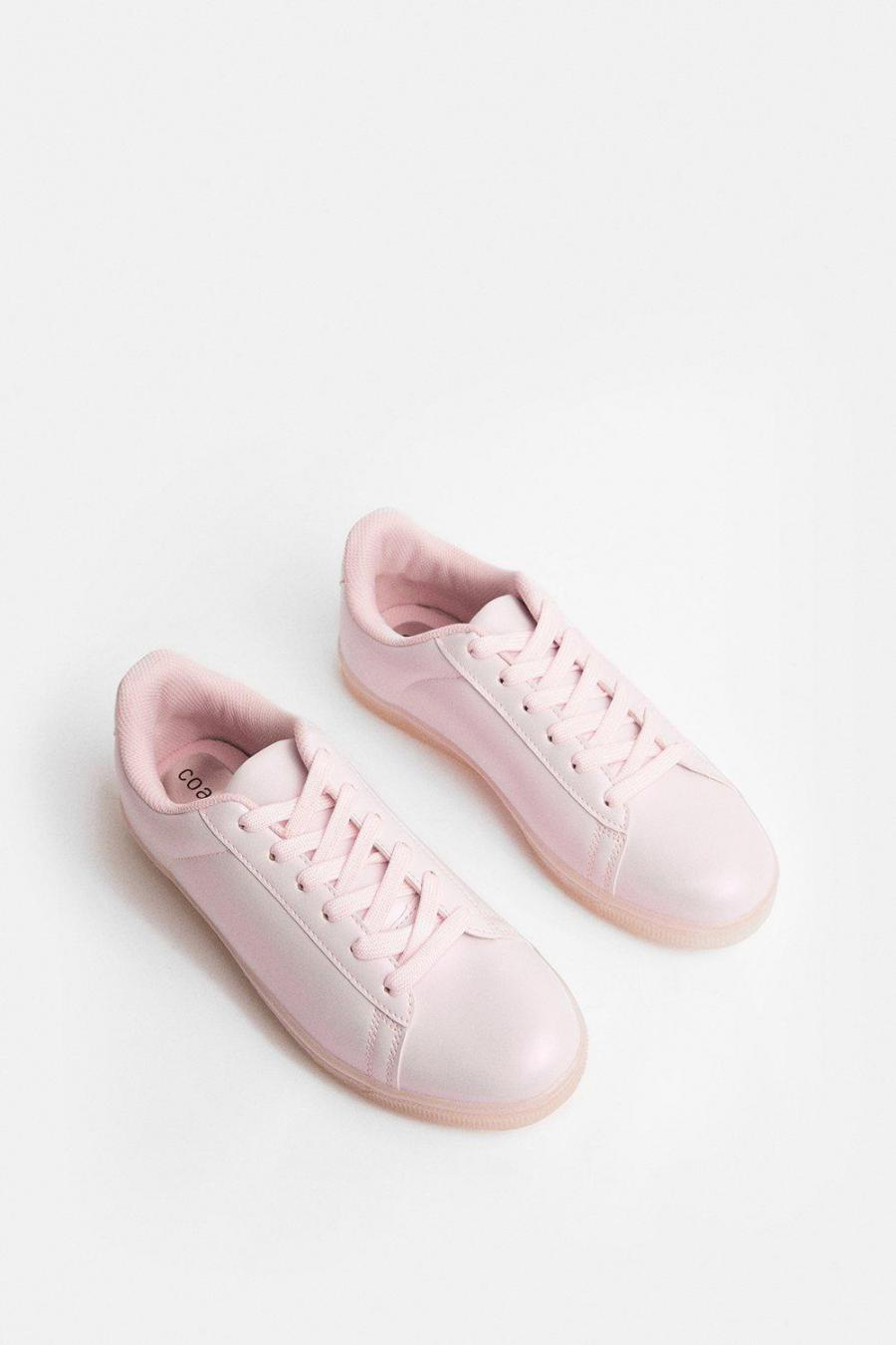 Coast Trainers | Womens Pearlised Trainer Pink