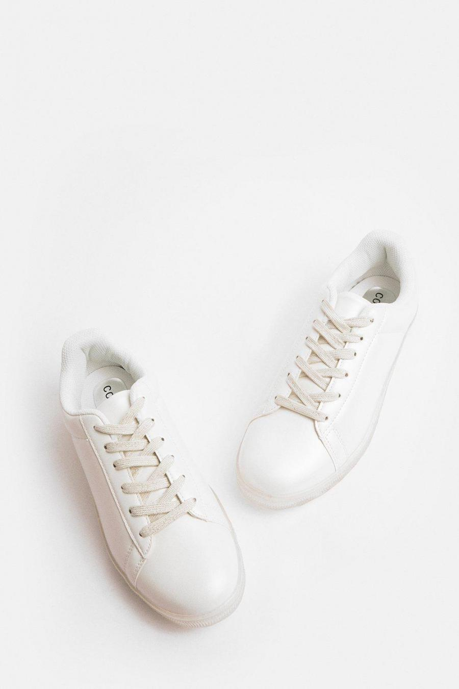 Coast Trainers | Womens Pearlised Trainer White