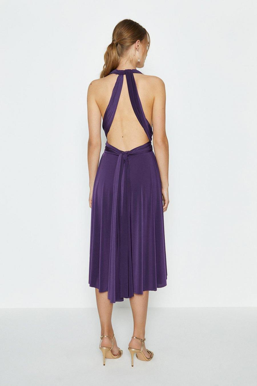 Coast Midi Dresses | Womens Multiway Jersey Midi Dress Aubergine