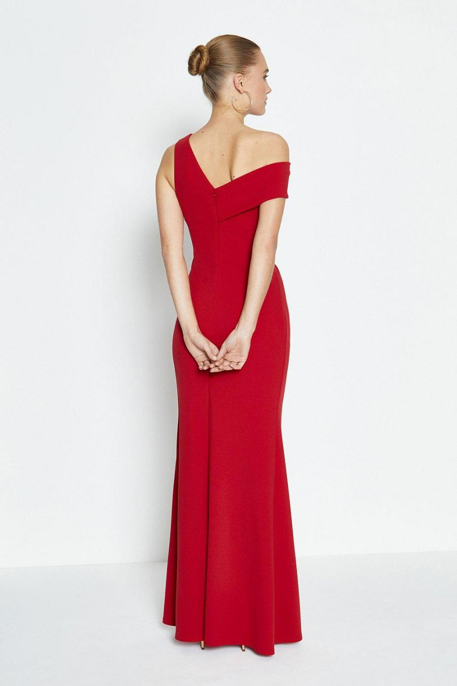 Coast Maxi Dresses | Womens Asymmetric Neckline Maxi Dress Red