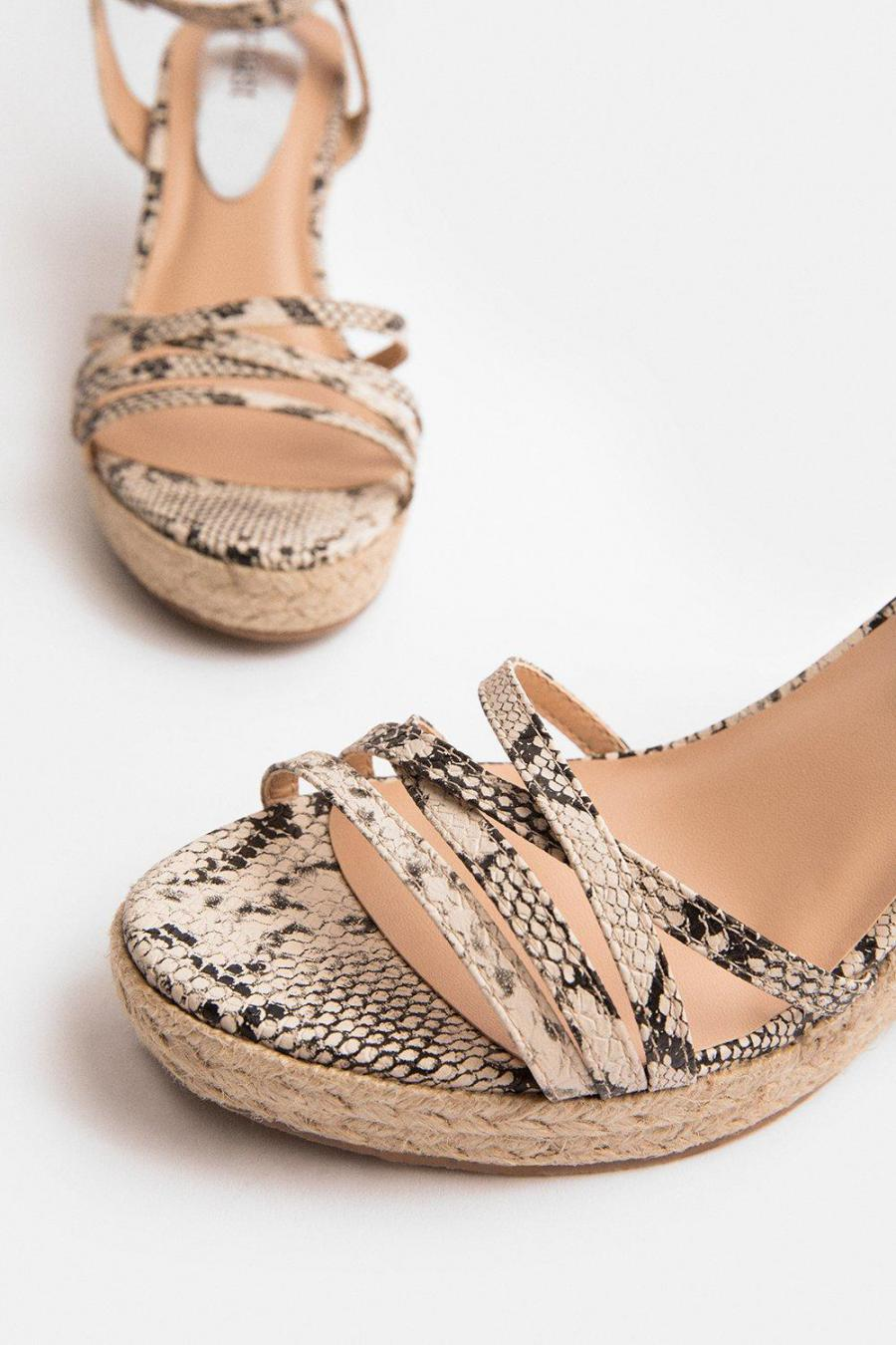 Coast Wedges | Womens Strappy Metallic Wedge Natural
