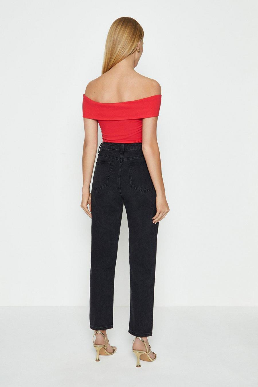 Coast Structured Tops | Womens Cross Front Ponte Top Red